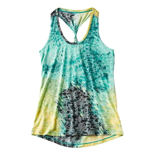 Womens Saucony Daybreak Sleeveless & Tank Technical Tops - Electric Tea S