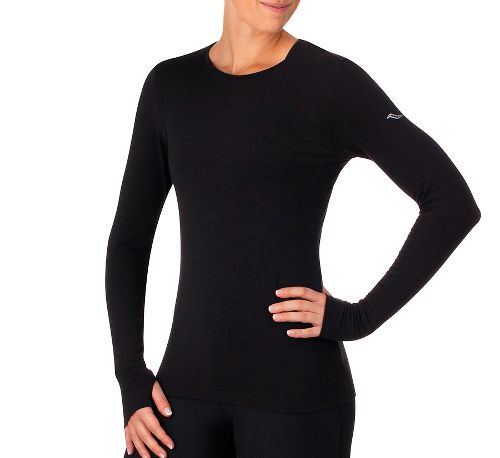 Womens Saucony Daybreak Long Sleeve Technical Tops - Black XS