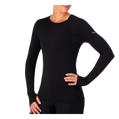 Womens Saucony Daybreak Long Sleeve Technical Tops - Black XL