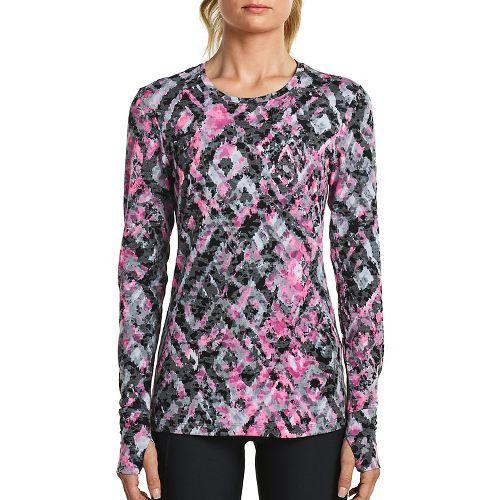 Womens Saucony Daybreak Long Sleeve Technical Tops - Black/Pink XS