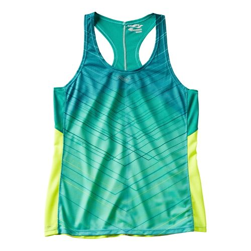 Womens Saucony Endorphin Singlet Sleeveless & Tank Technical Tops - Hawaiian Sky S