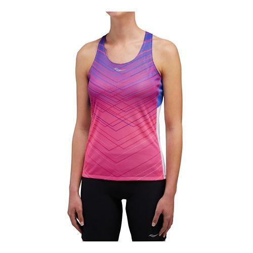 Womens Saucony Endorphin Singlet Sleeveless & Tank Technical Tops - VIZiPRO Pink XS