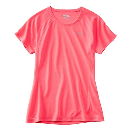 Womens Saucony Hydralite Short Sleeve Technical Tops - VIZiPRO Pink M