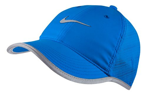 Womens Nike Run Knit Mesh Cap Headwear - Photo Blue