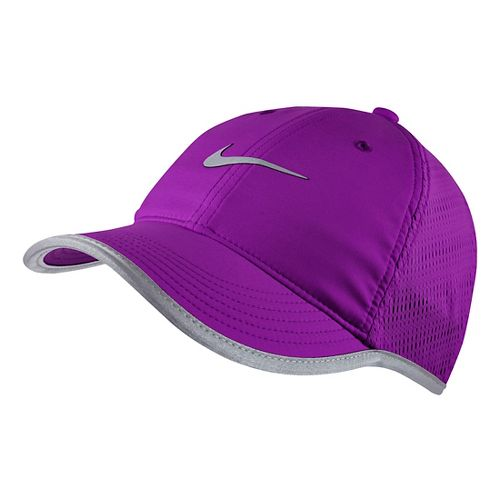 Womens Nike Run Knit Mesh Cap Headwear - Cosmic Purple