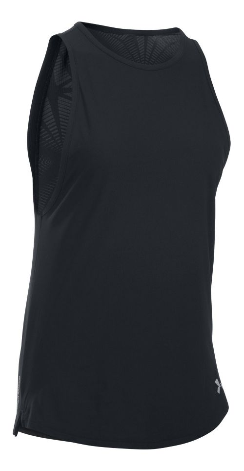 Womens Under Armour Coolswitch Run Sleeveless & Tank Tops Technical Tops - Black M
