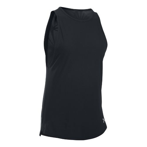 Womens Under Armour Coolswitch Run Sleeveless & Tank Tops Technical Tops - Black L