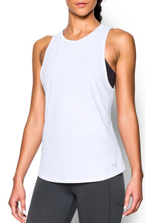 Womens Under Armour Coolswitch Run Sleeveless & Tank Tops Technical Tops - White L