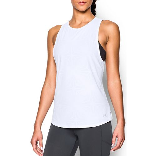Womens Under Armour Coolswitch Run Sleeveless & Tank Tops Technical Tops - White XS