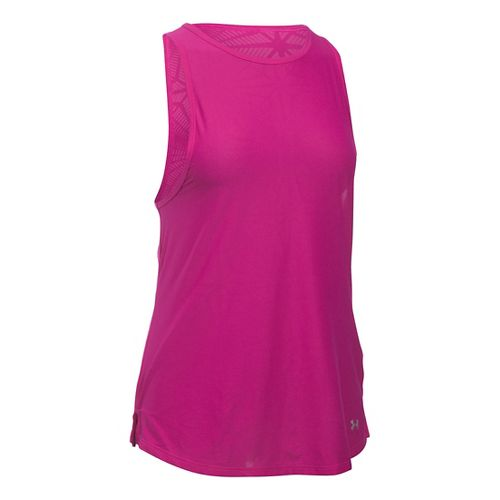 Womens Under Armour Coolswitch Run Sleeveless & Tank Tops Technical Tops - Magenta Shock XS