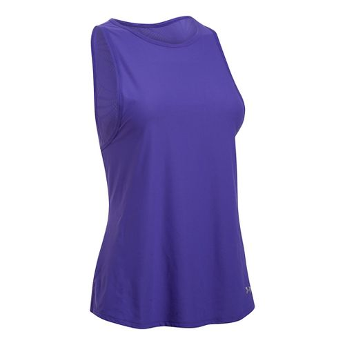 Womens Under Armour Coolswitch Run Sleeveless & Tank Tops Technical Tops - Deep Orchid XL ...