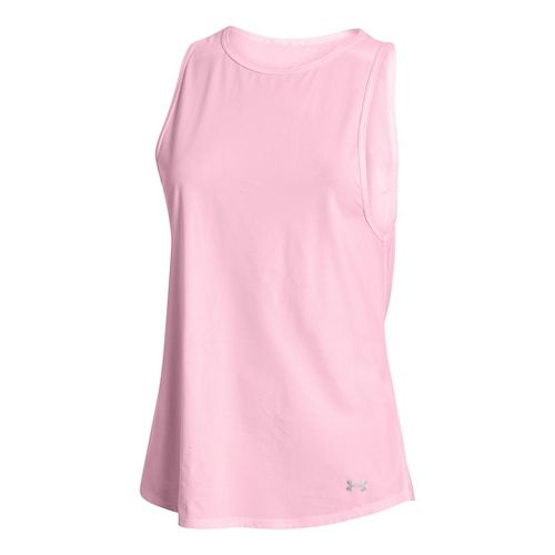 Womens Under Armour Coolswitch Run Sleeveless & Tank Tops Technical Tops - Petal Pink S ...