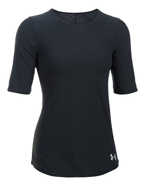 Womens Under Armour Coolswitch Run Short Sleeve Technical Tops - Black M