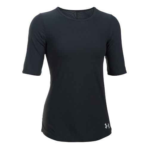 Womens Under Armour Coolswitch Run Short Sleeve Technical Tops - Black L