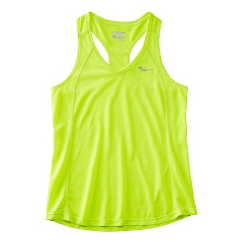 Womens Saucony Hydralite Sleeveless & Tank Technical Tops - VIZiPRO Citron M