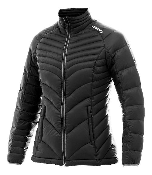 Womens Craft Light Down Cold Weather Jackets - Black/Platinum M