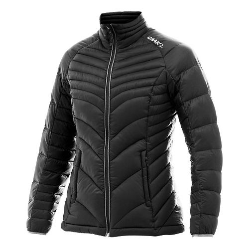 Womens Craft Light Down Cold Weather Jackets - Black/Platinum M