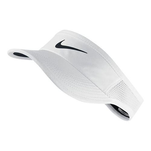 Womens Nike Featherlight Visor Headwear - White S/M