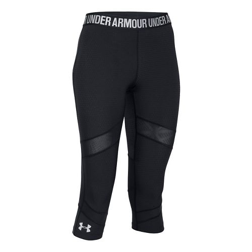 Womens Under Armour Coolswitch Capris Pants - Black/Water S