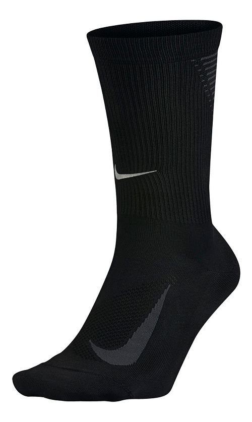 Nike Elite Run Lightweight 2.0 Crew Socks - Black M