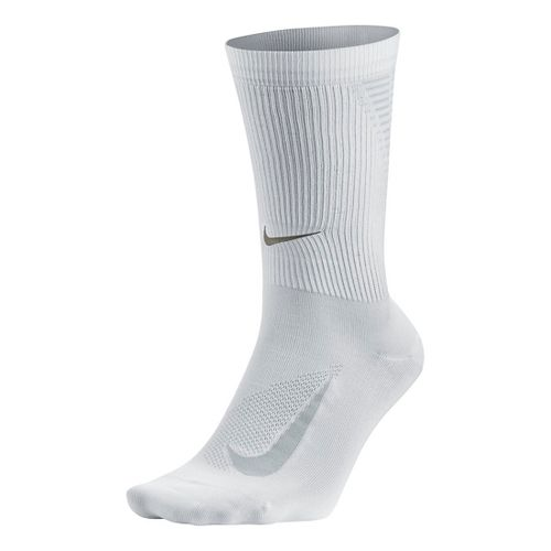 Nike Elite Run Lightweight 2.0 Crew Socks - White L