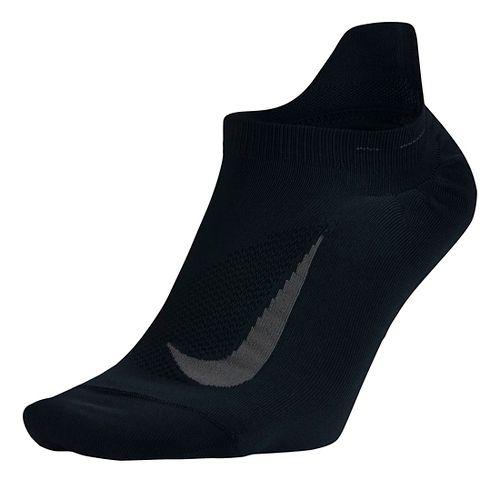 Nike Elite Running Lightweight No Show Tab Socks - Black L
