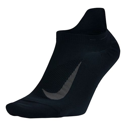 Nike Elite Running Lightweight No Show Tab Socks - Black M