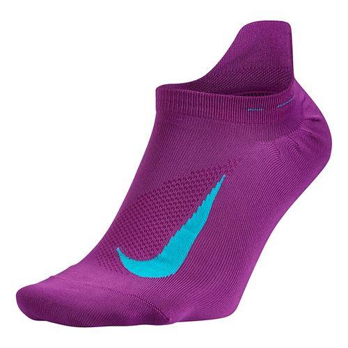 Nike Elite Running Lightweight No Show Tab Socks - Cosmic Purple M