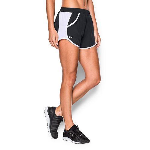 Womens Under Armour Fly By Run Lined Shorts - Black L