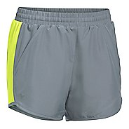 Womens Under Armour Fly By Run Lined Shorts - Steel/X-Ray M