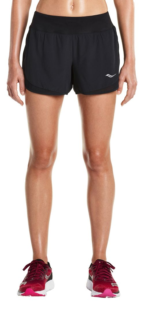 Womens Saucony Impulse Shorts - Black L