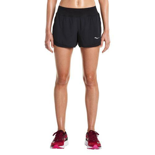 Womens Saucony Impulse Shorts - Black L