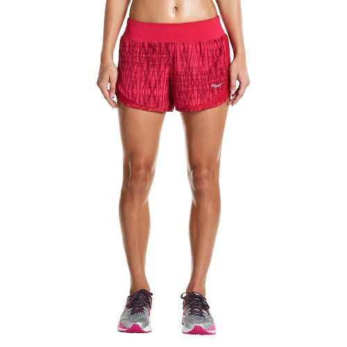 Womens Saucony Impulse Shorts - Raspberry L