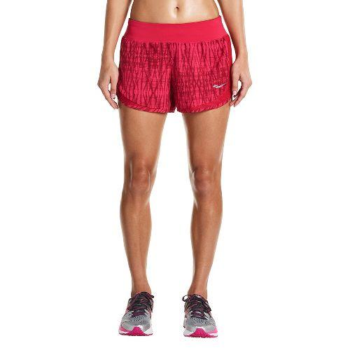 Womens Saucony Impulse Shorts - Raspberry XL