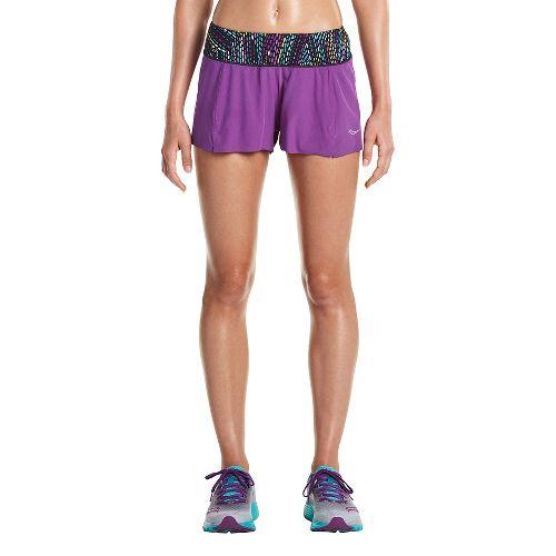 Womens Saucony Pinnacle Lined Shorts - Dahlia M