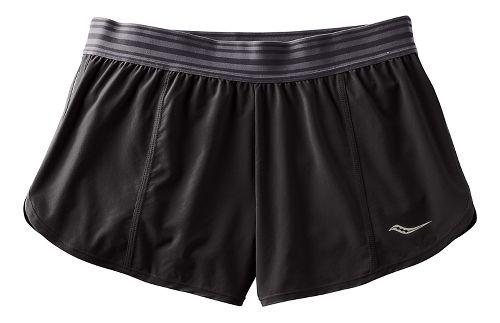 Womens Saucony PE Shorts - Black XL