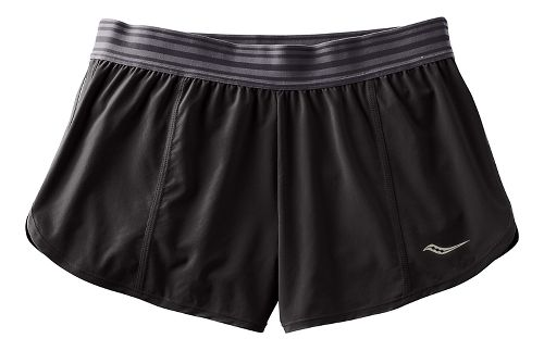 Womens Saucony PE Shorts - Black XS
