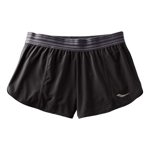 Womens Saucony PE Shorts - Black XL