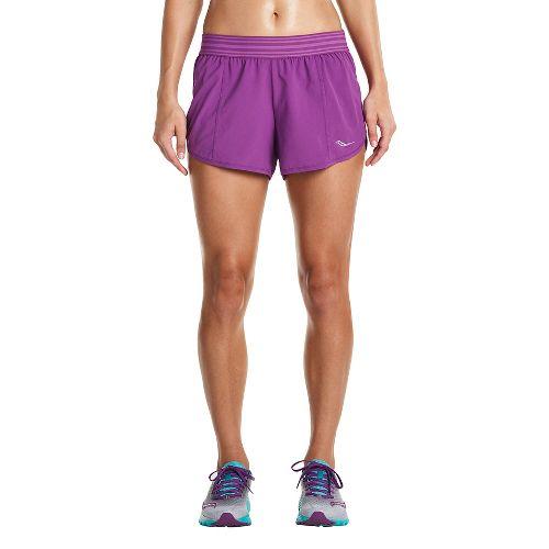 Womens Saucony PE Shorts - Dahlia XL