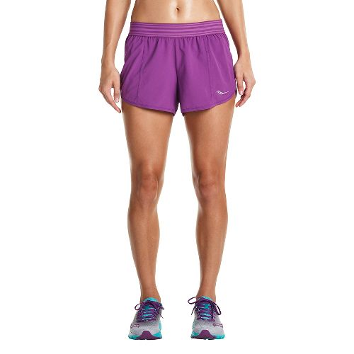 Womens Saucony PE Shorts - Dahlia XS