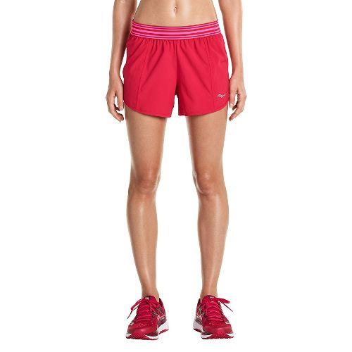 Womens Saucony PE Shorts - Raspberry L