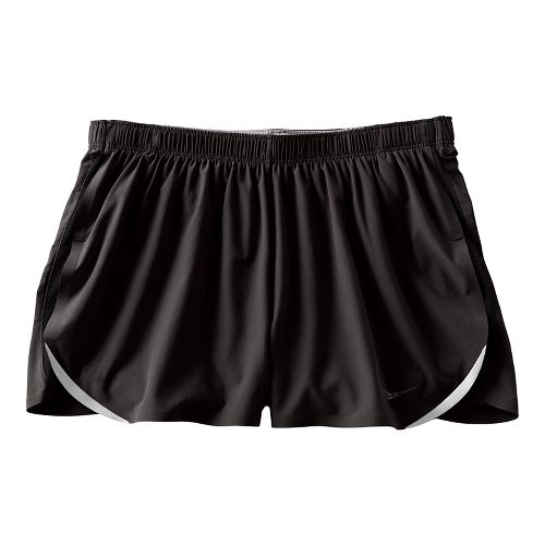 Womens Saucony Endorphin Split Shorts - Black XS