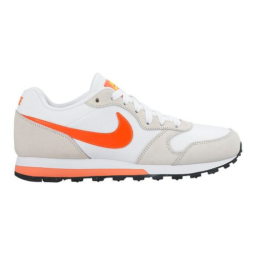 Womens Nike MD Runner 2 Casual Shoe - White/Orange 11