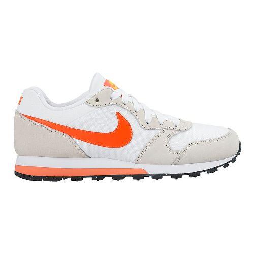 Womens Nike MD Runner 2 Casual Shoe - White/Orange 8.5