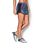 Womens Under Armour Fly By Printed Run Lined Shorts