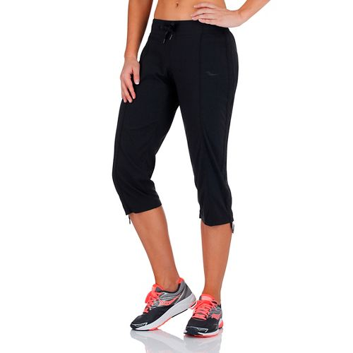Womens Saucony City Capri Pants - Black 1X