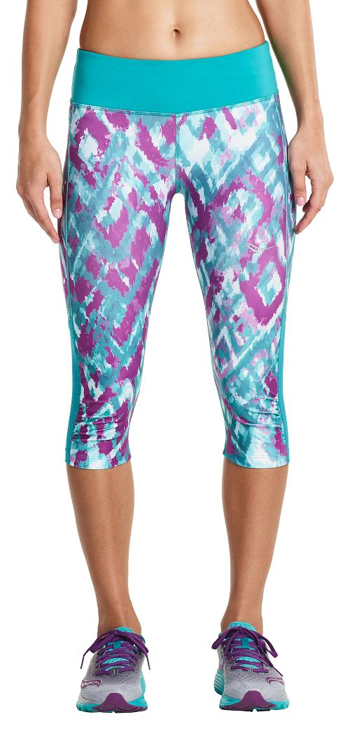 Womens Saucony Scoot Mini Capris Pants - Barbados 1X