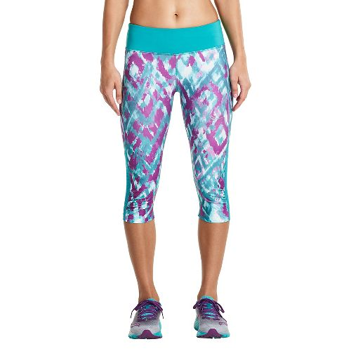 Womens Saucony Scoot Mini Capris Pants - Barbados M