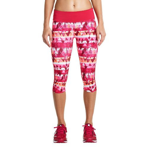 Womens Saucony Scoot Mini Capris Pants - Raspberry M