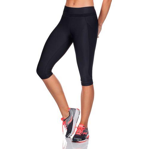 Womens Saucony Bullet Capris Pants - Black XS